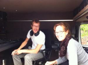 zomerjazzfietstour 2013, met micha de kanter in de opnamewagen